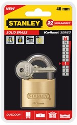 Hangslot Stanley messing 40mm