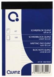 Schrijfblok Quinz A7 60grams 100vel gelinieerd