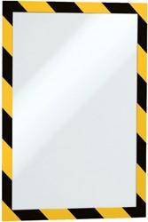 Duraframe Durable 4944130 security A4 zelfklevend geel/zwart