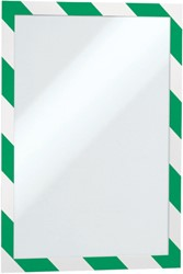 Duraframe Durable 4944131 security A4 zelfklevend groen/wit