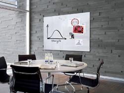Glasbord Sigel magnetisch 1500x1000x18mm wit