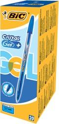 Gelschrijver Bic Cristal blauw medium