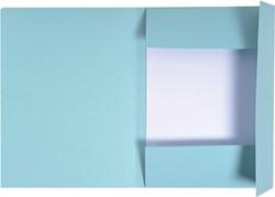 Dossiermap Exacompta forever 300gr 3kleppen blauw