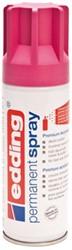 Verfspuitbus edding 5200 permanent spray mat telemagenta