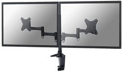 """Monitorarm Newstar D1330D 2x10-27"""" zwart"""