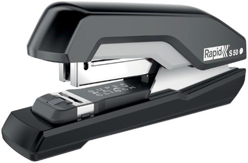 Nietmachine Rapid S50 Halfstrip 50vel 24/6 zwart/grijs