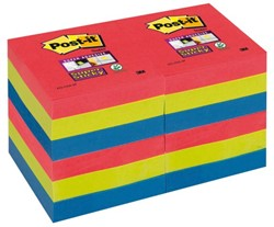 Memoblok 3M Post-it 622-SSJP Super Sticky 47x47mm Bora Bora