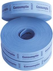 Consumptiebon Combicraft 57x30mm 2-zijdig 2x1000 stuks blauw