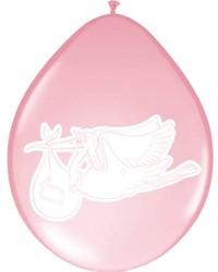 Ballonnen Folat baby meisje 8stuks 30cm