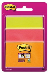 Memoblok 3M Post-it 3432-SS3O Super Sticky assorti formaten