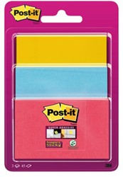 Memoblok 3M Post-it 3432-SS3P Super Sticky assorti formaten