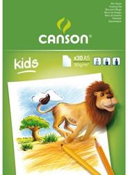 TEKENBLOK CANSON KIDS A5 30V 90GR 30 VEL