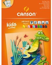 Tekenblok Canson Kids 24x32cm 185gr 10vel