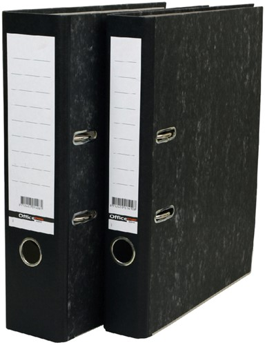 Ordner Budget A4 50mm karton zwart gewolkt