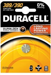Batterij Duracell knoopcel 390 zilver oxide Ø11,6mm 1,5V-80m