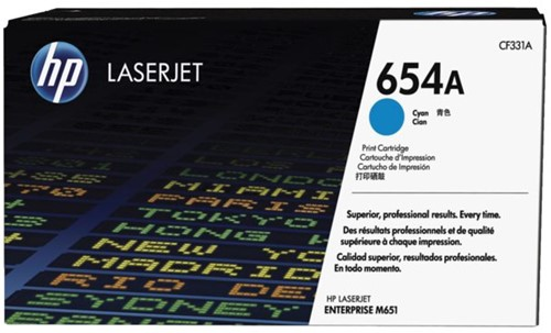 Tonercartridge HP CF331A 654A blauw