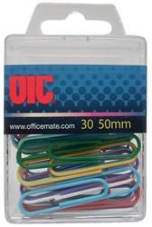 Paperclip Oic 50mm rond 30stuks assorti gelamineerd