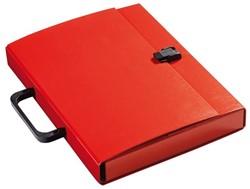 Koffer Klapr A4 30mm glanskarton rood