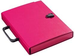 Koffer Klapr A4 30mm glanskarton paars