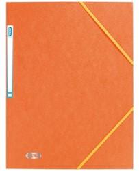 Elastomap Elba A4 met rugetiket oranje