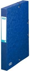 Elastobox Elba A4 40mm met rugetiket blauw