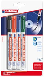 Cd marker edding 8400 rond assorti 0.5-1.0mm blister à 4st