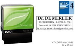 Tekststempel Colop 20 green line+bon 4regels Frans 38x14mm