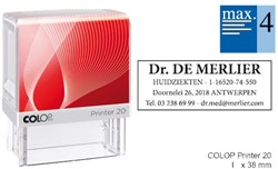 Tekststempel Colop Printer 20 +bon 4regels Frans 38x14