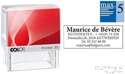 Tekststempel Colop Printer 30 +bon 5regels Frans 47x18