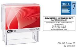Tekststempel Colop Printer 50 +bon 7regels Frans 69x30
