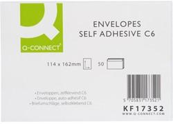 ENVELOP Q-CONNECT BANK C6 114X162 80GR ZK WIT 50 STUK