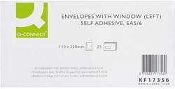 Envelop Q-Connect venster links EA5/6 110X220 80gr zelfkleve
