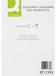 Envelop Q-Connect akte C5 162X229 100gr zelfklevend wit