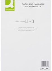 ENVELOP Q-CONNECT AKTE C4 229X324 120GR ZK WIT 10 STUK