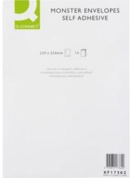 Envelop Q-Connect monster 229x324x38 130gr zelfklevend wit