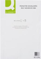 Envelop Q-Connect monster 262x371x38 130gr zelfklevend wit