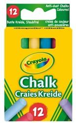 Krijt Crayola schoolbord assorti 12 stuks