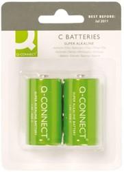 Batterij Q-Connect Baby C set à 2 stuks