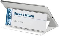 Tafelnaambord Durable 8053 tablet 210x83x138mm transparant