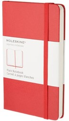 Notitieboek Moleskine blanco large 130x210mm rood