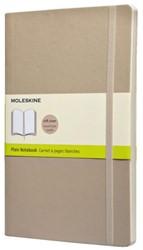 Notitieboek Moleskine blanco large 130x210 zachte kaft beige