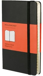 Adresboek Moleskine pocket 90x140mm zwart