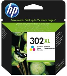 Inkcartridge HP F6U67AE 302XL kleur