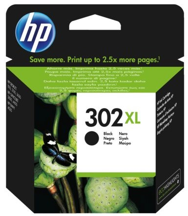 Inktcartridge HP F6U68AE 302XL zwart