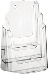 Folderhouder Nedco 37301 3xA4 staand/hangend transparant