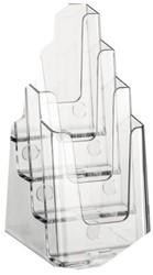 Folderhouder Nedco 37701 4x1/3 A4 staand/hangend transp
