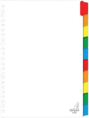 Tabbladen Kangaro 23-gaats PK410M 10-delig wit karton