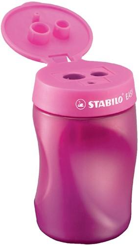 Puntenslijper STABILO Easy 4501 3 in 1 linkshandig roze