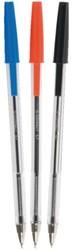 Balpen Q-Connect stick blauw