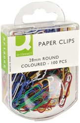 Paperclip Q-Connect 28mm assorti